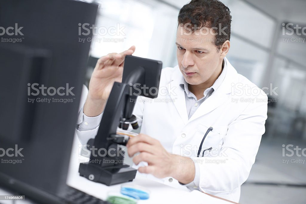Testing a new substance royalty-free stock photo