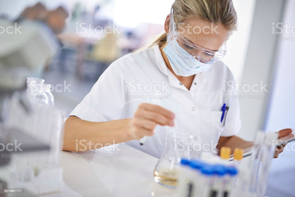 Testing a theory stock photo