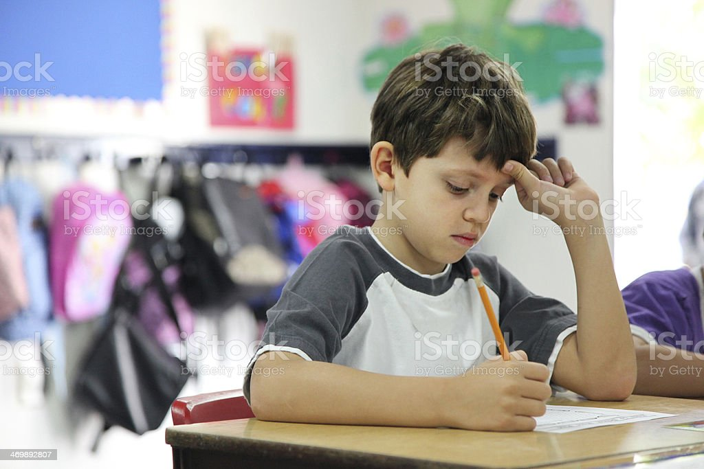 Testing Elementary School stock photo