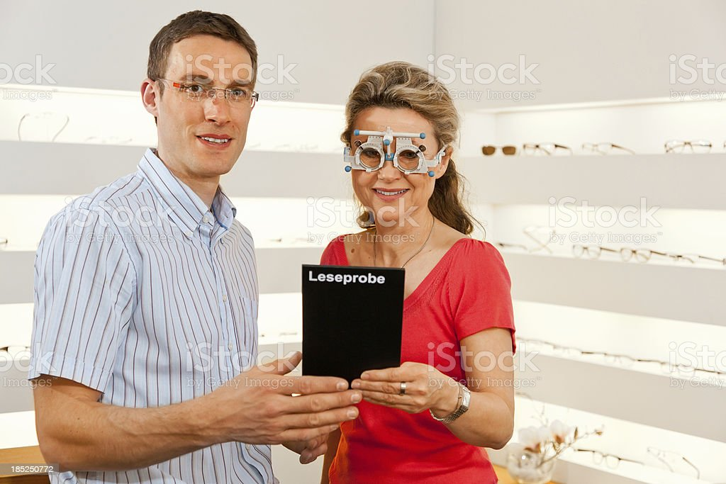 testing eye glasses royalty-free stock photo