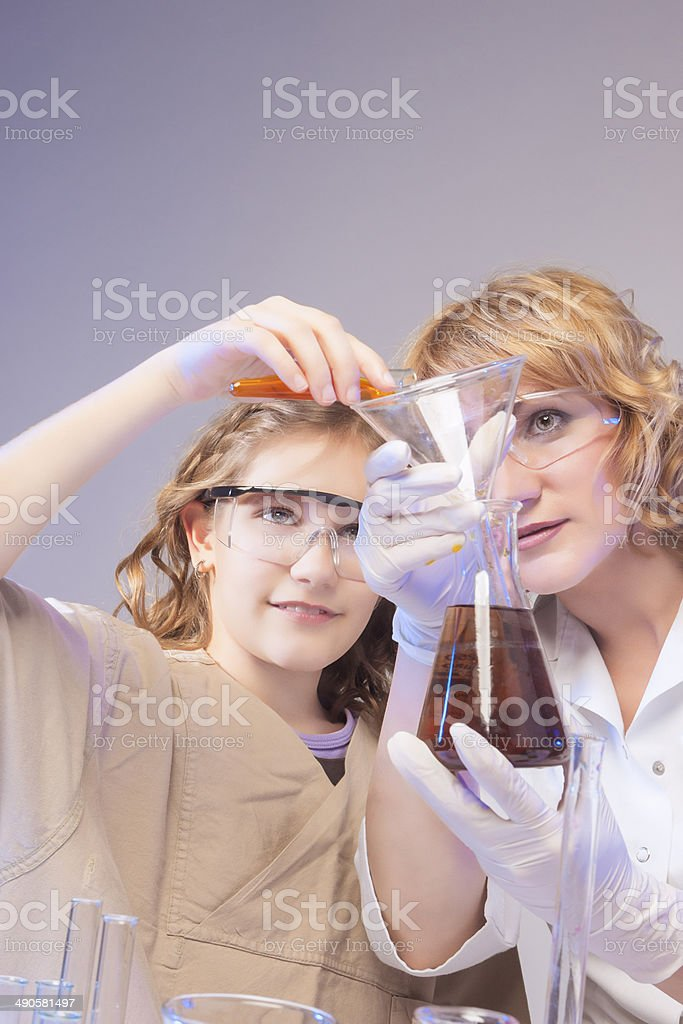 Testing Liquids in the Lab royalty-free stock photo