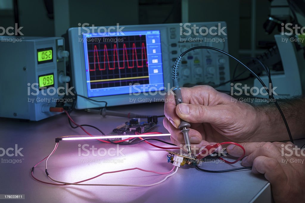 Testing of electronic equipment royalty-free stock photo
