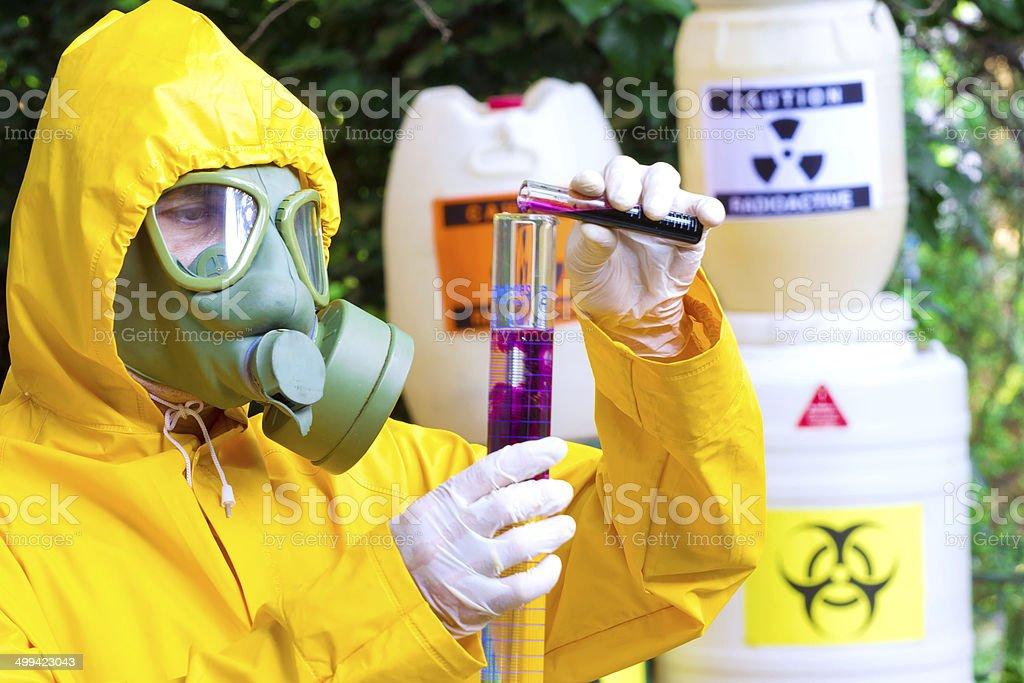 Testing of toxic substances royalty-free stock photo