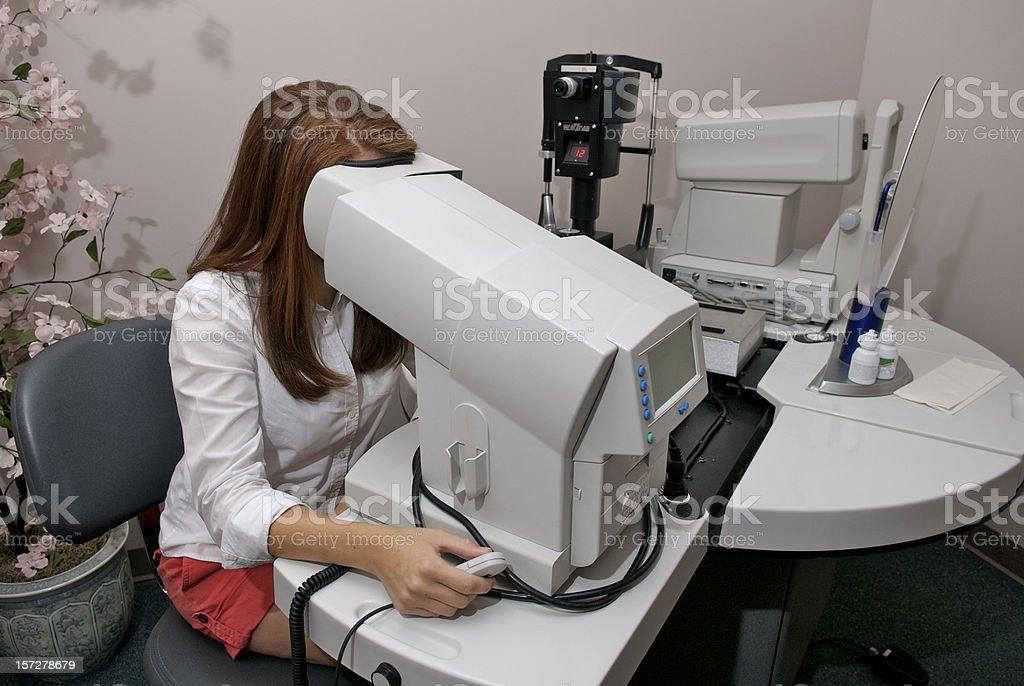 Testing Peripheral Vision royalty-free stock photo