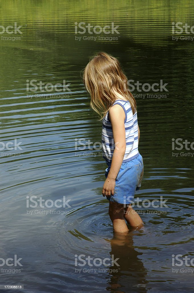Testing The Waters royalty-free stock photo