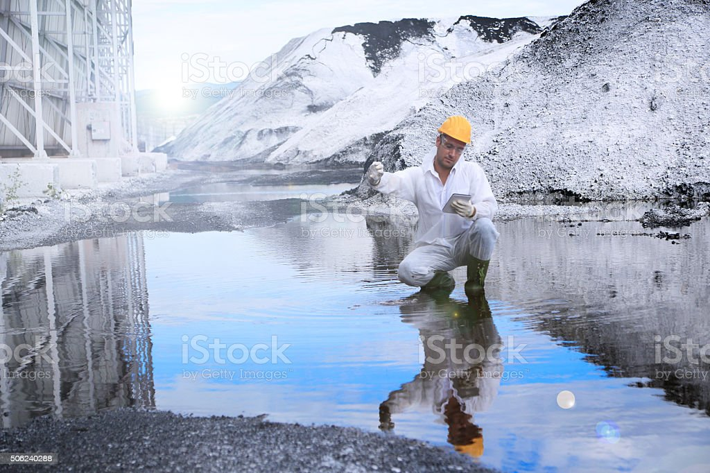 Testing Toxins in Water stock photo