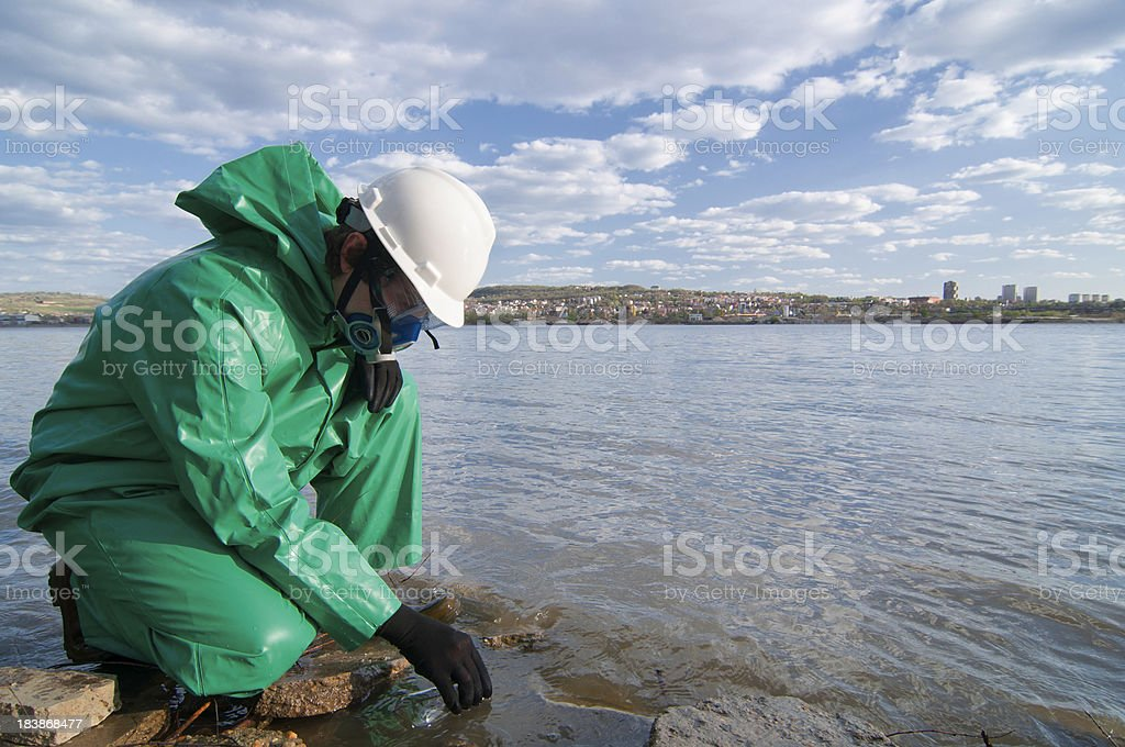 Testing water quality stock photo