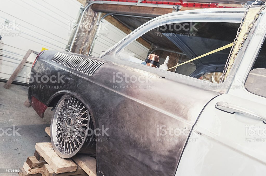 Testing Wheel Fitment royalty-free stock photo