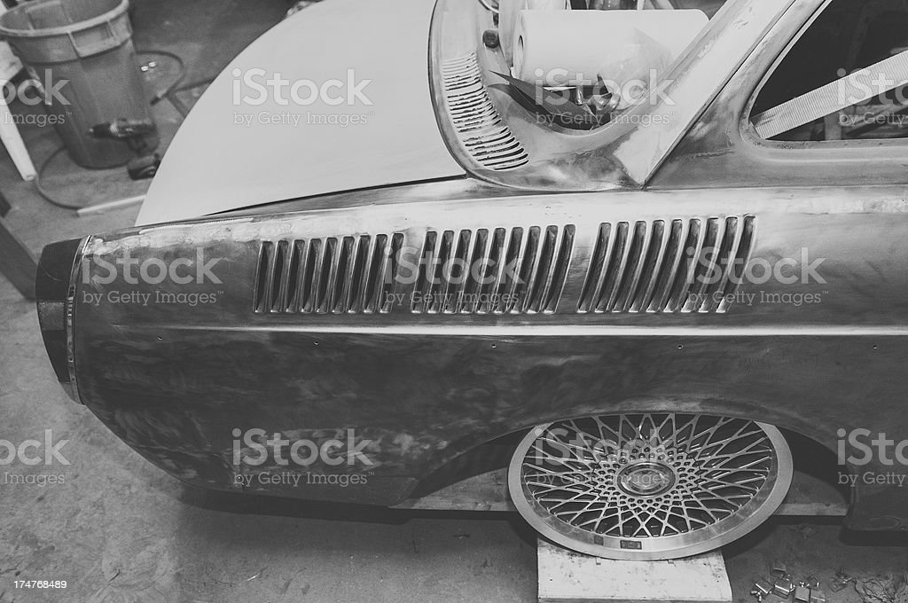 Testing Wheel Fitment royalty-free stock photo
