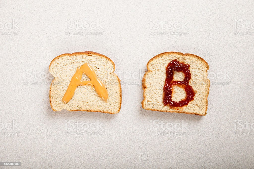 AB Testing with a sandwich stock photo