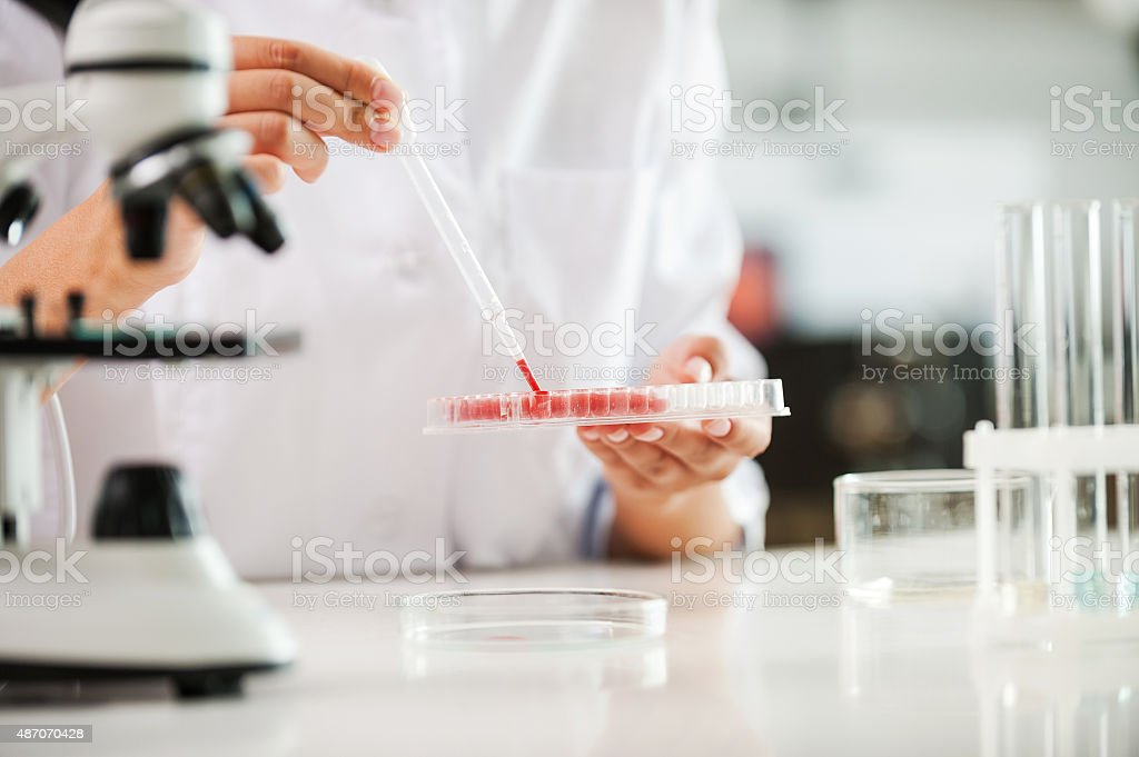 Testing your blood. stock photo