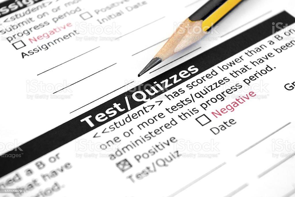 Test-Quizzes stock photo