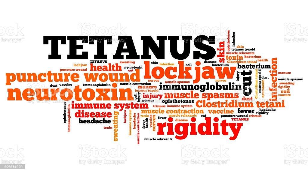 Tetanus word cloud stock photo