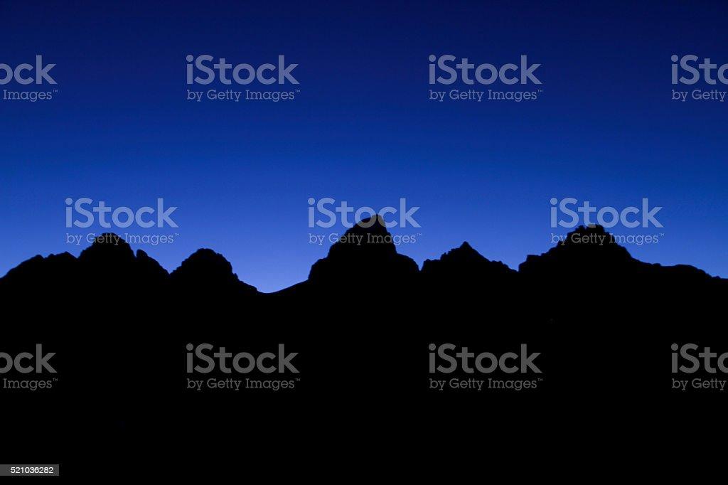 Teton Alpenglow I stock photo