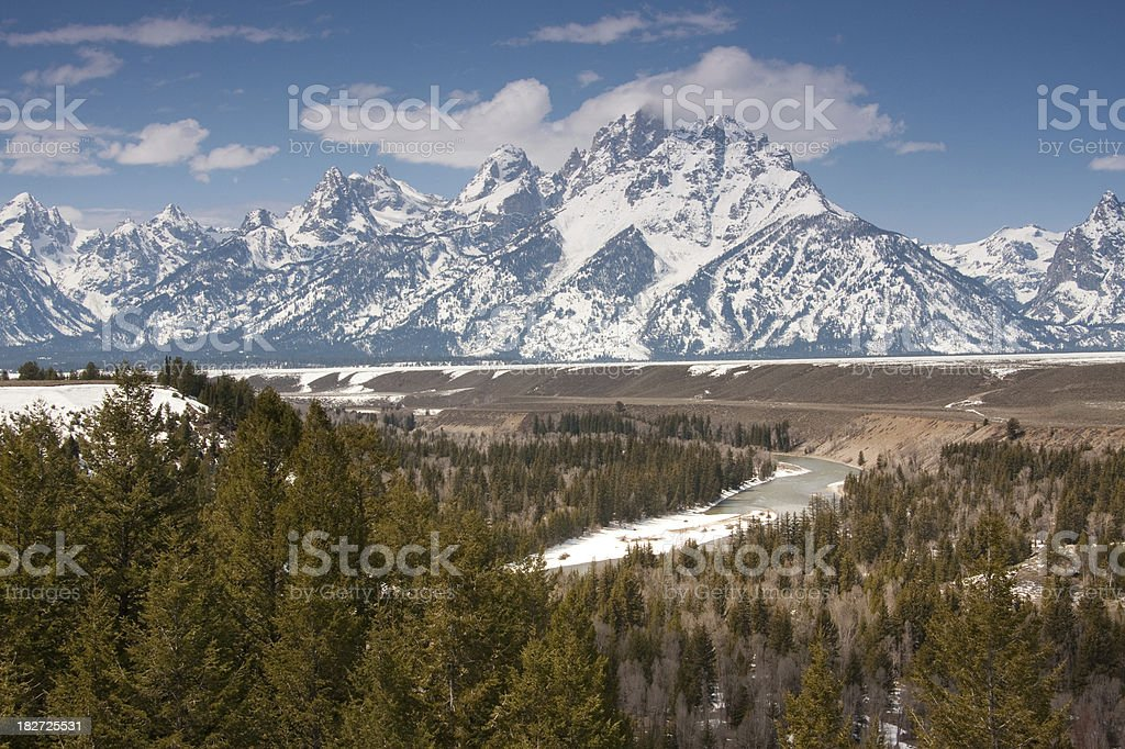 Teton and Snake River royalty-free stock photo