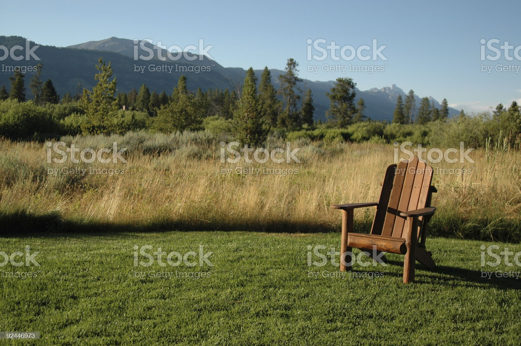 Teton backyard royalty-free stock photo
