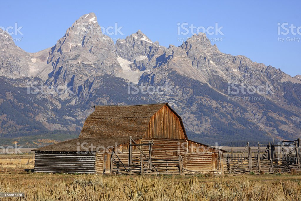 Teton Barn royalty-free stock photo