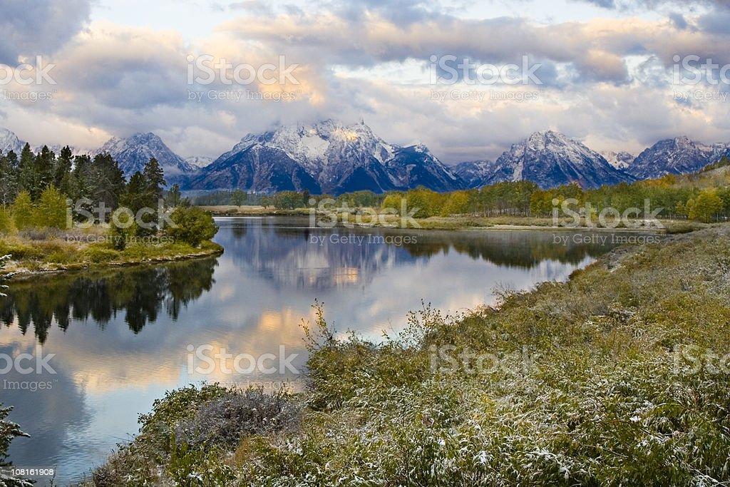 Teton Mountain Morning. stock photo