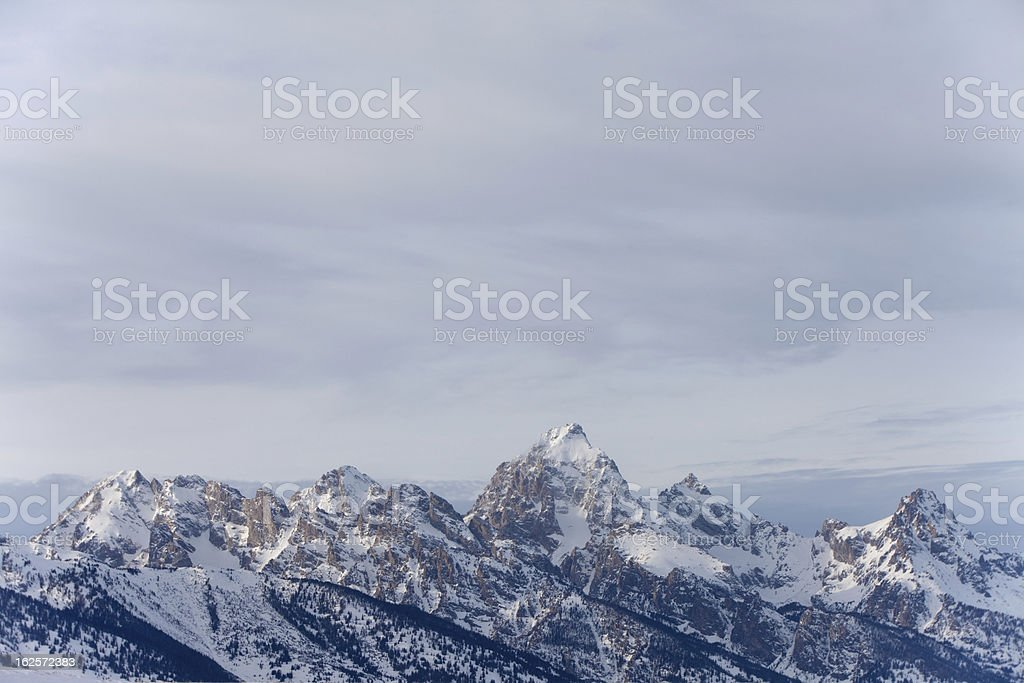 Teton Mountain Range royalty-free stock photo