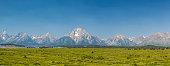 Teton mountains in Wyoming, USA - panorama image
