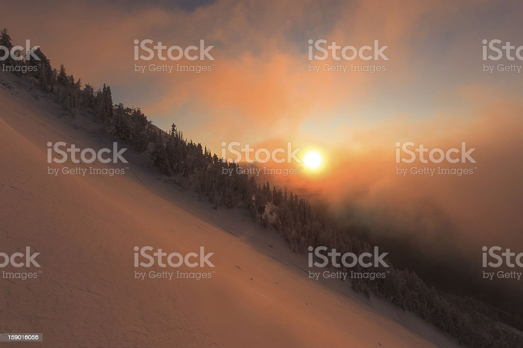 Teton Pass Sunrise royalty-free stock photo