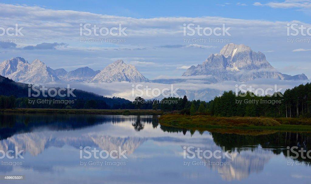 Teton Range Mystic stock photo