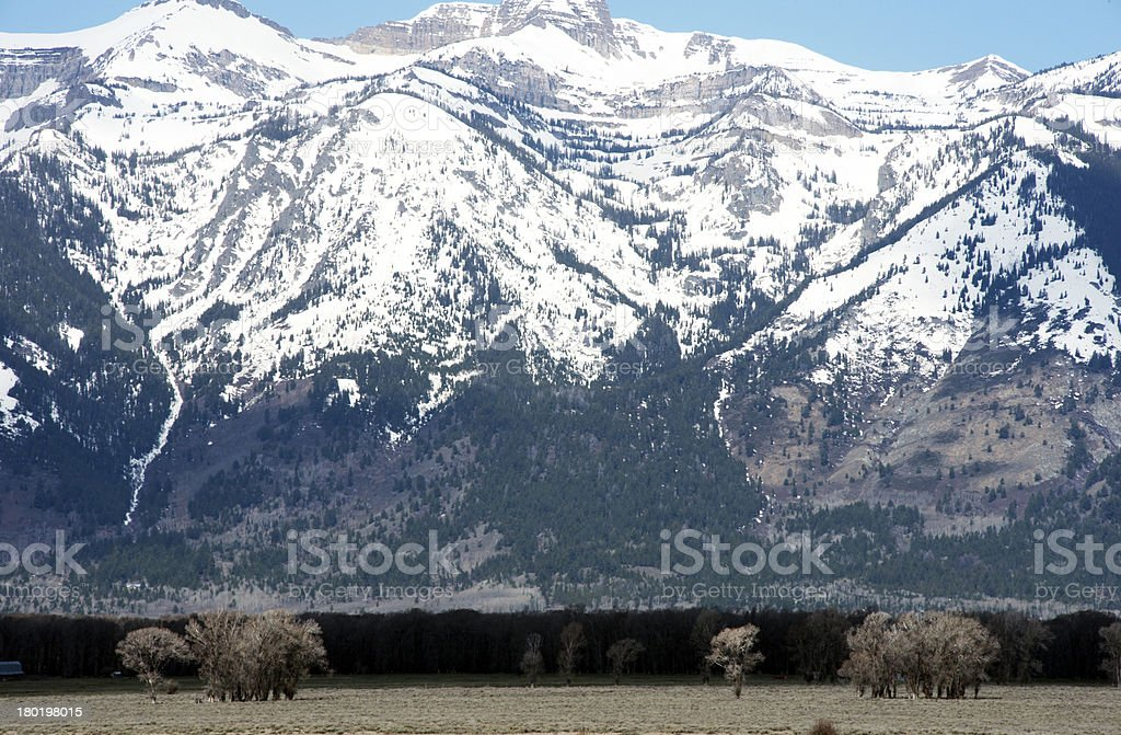 Teton range royalty-free stock photo