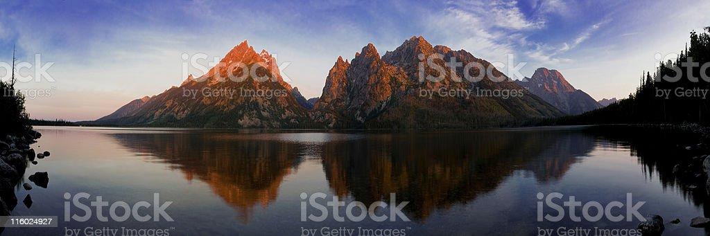 Teton Reflection on Jenny Lake stock photo