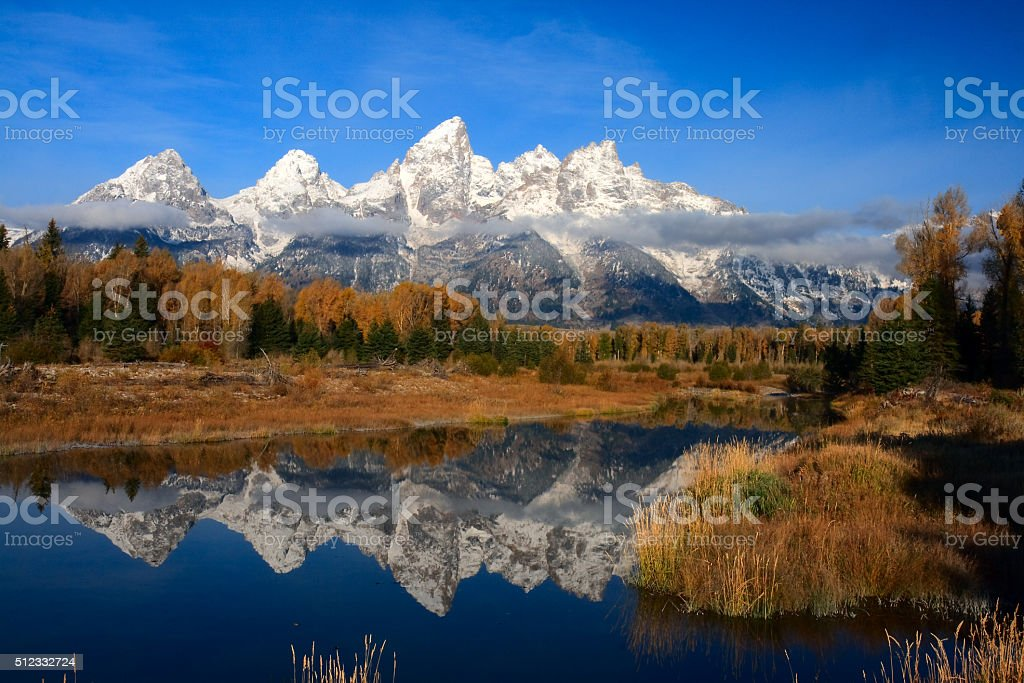 Teton Reflections royalty-free stock photo