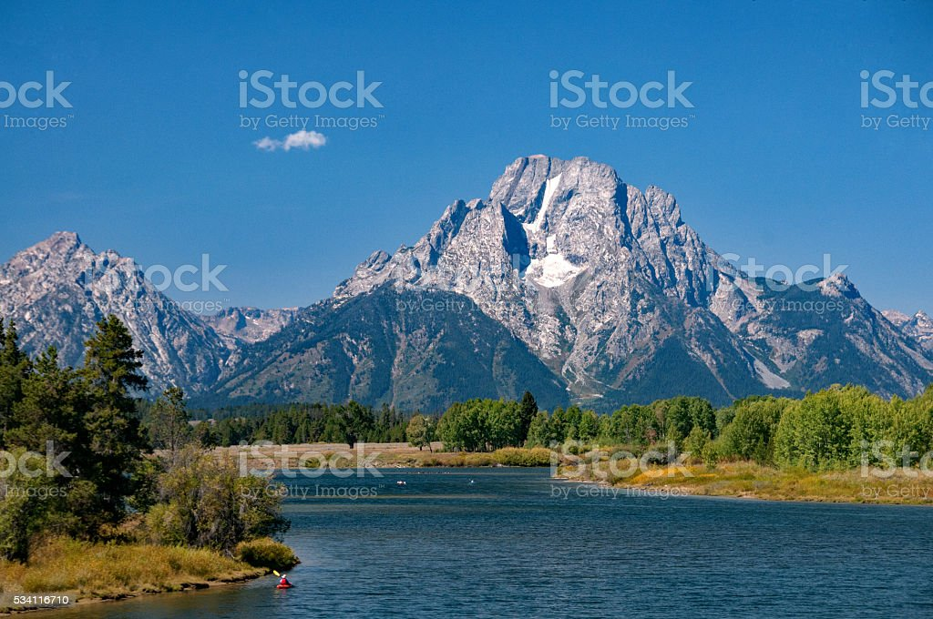 Tetons and Snake River stock photo