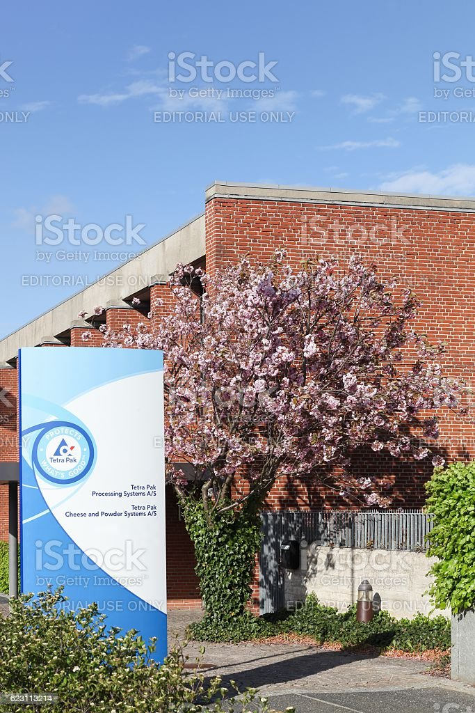 Tetra pak building and office stock photo