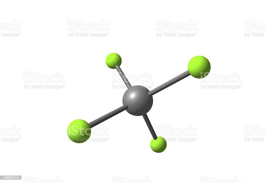 Tetrachloromethane molecular structure isolated on white stock photo