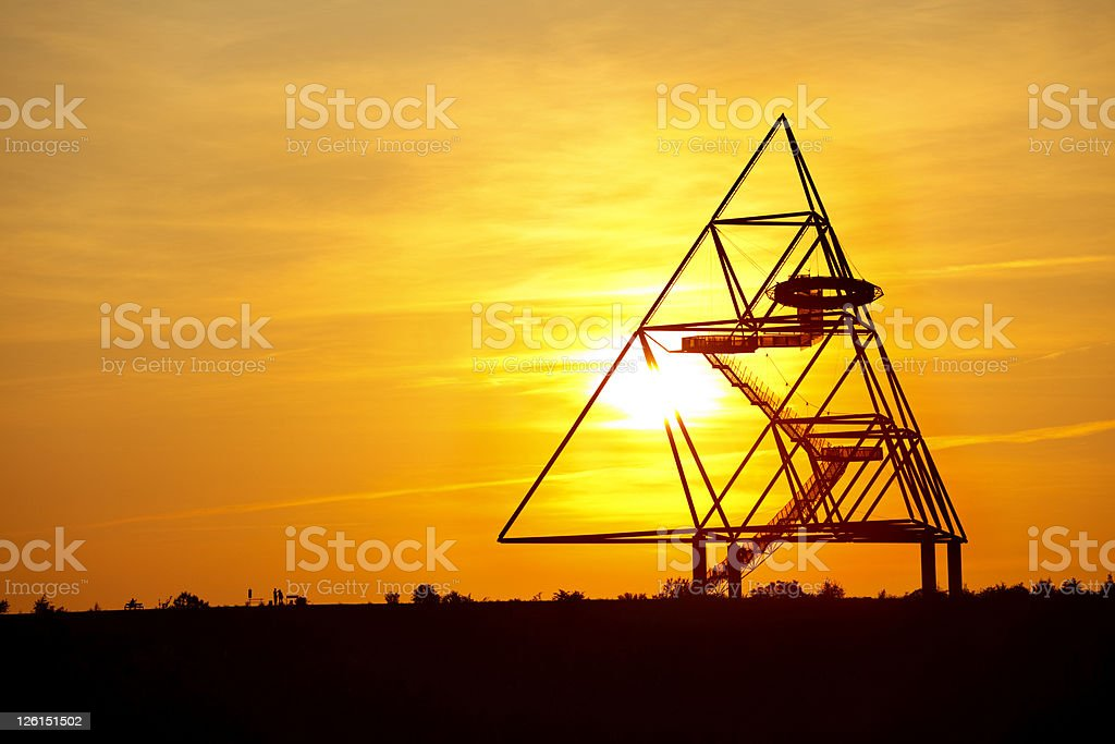 Tetraeder Bottrop At Sunset stock photo