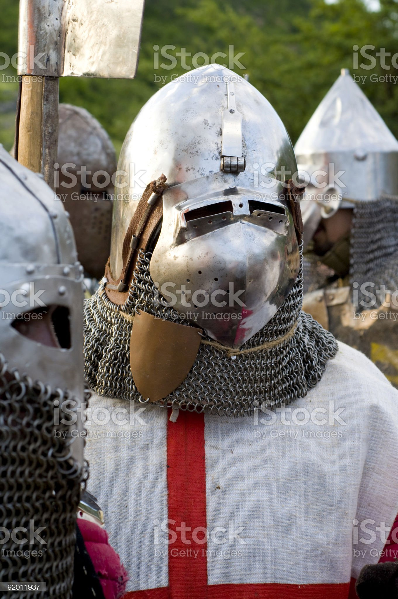 teuton armoured knight or infantry royalty-free stock photo