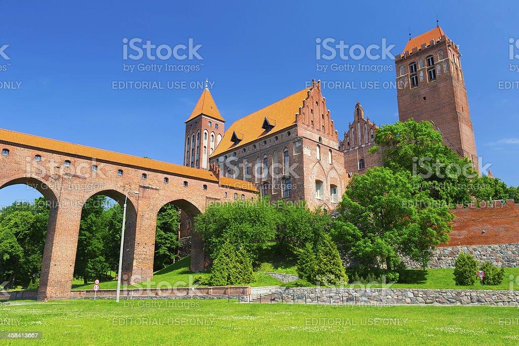 Teutonic castle in Kwidzyn stock photo