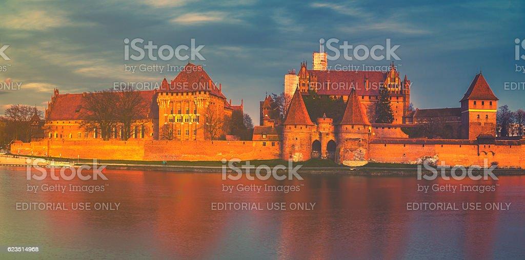Teutonic Castle in Malbork (Marienburg) in Pomerania (Poland) stock photo