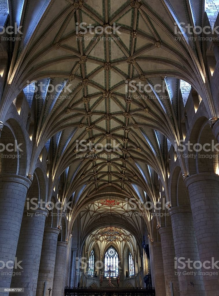 Tewkesbury Abbey (Interior) stock photo