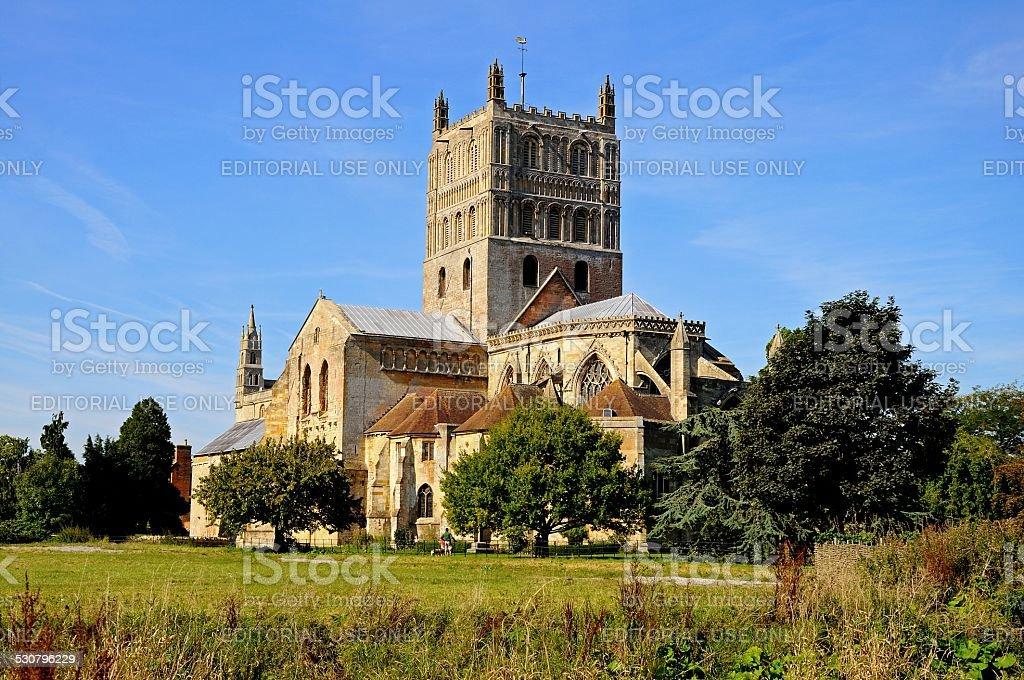 Tewkesbury Abbey. stock photo