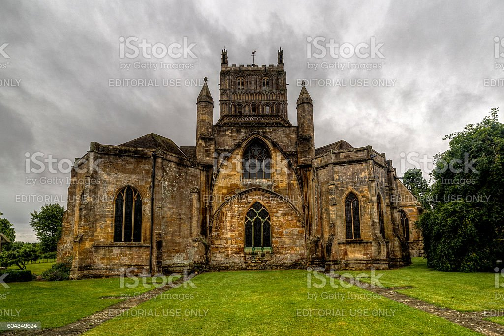 Tewkesbury Cathedral stock photo