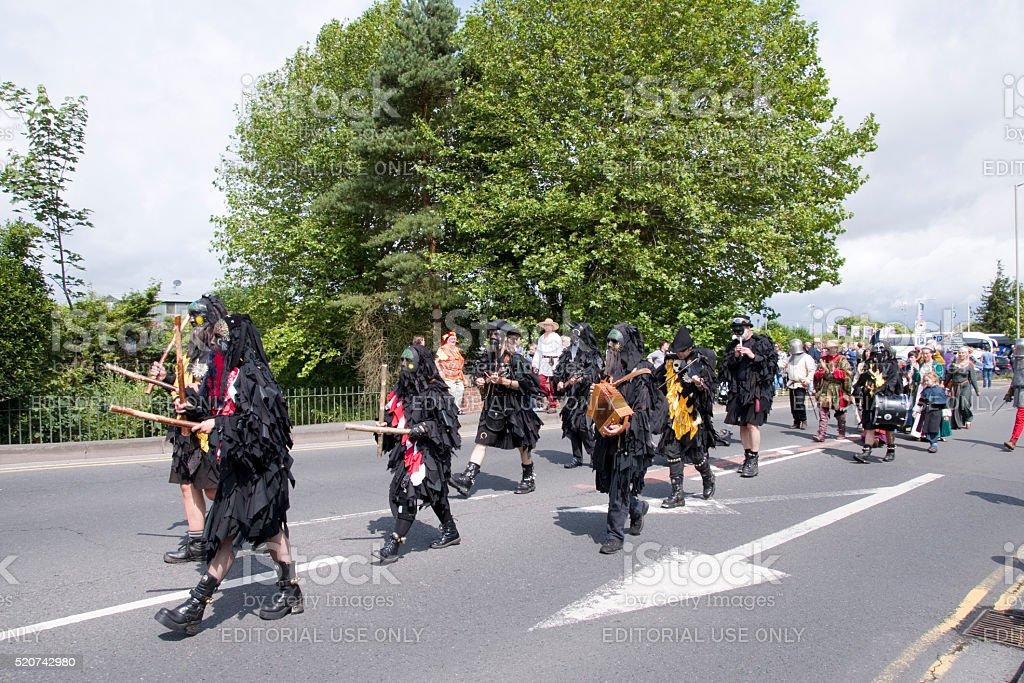 Tewkesbury Medieval Festival Parade stock photo