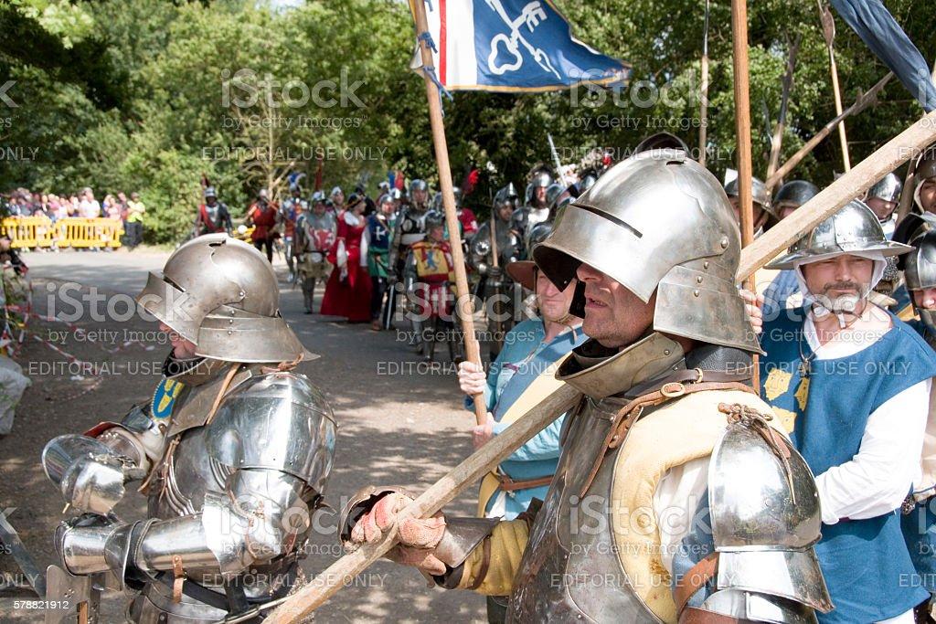 Tewkesbury Medieval Festival stock photo