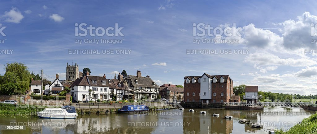 Tewkesbury Old Mill, Gloucestershire, England royalty-free stock photo