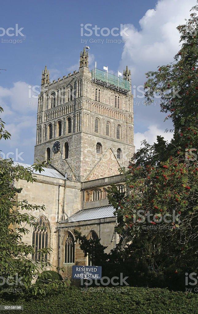 Tewkwsbury Abbey Norman Church Tower royalty-free stock photo