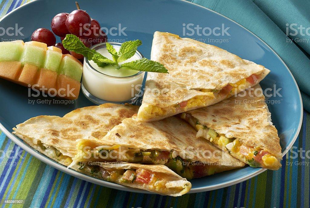 Tex Mex Breakfast Quesadilla stock photo