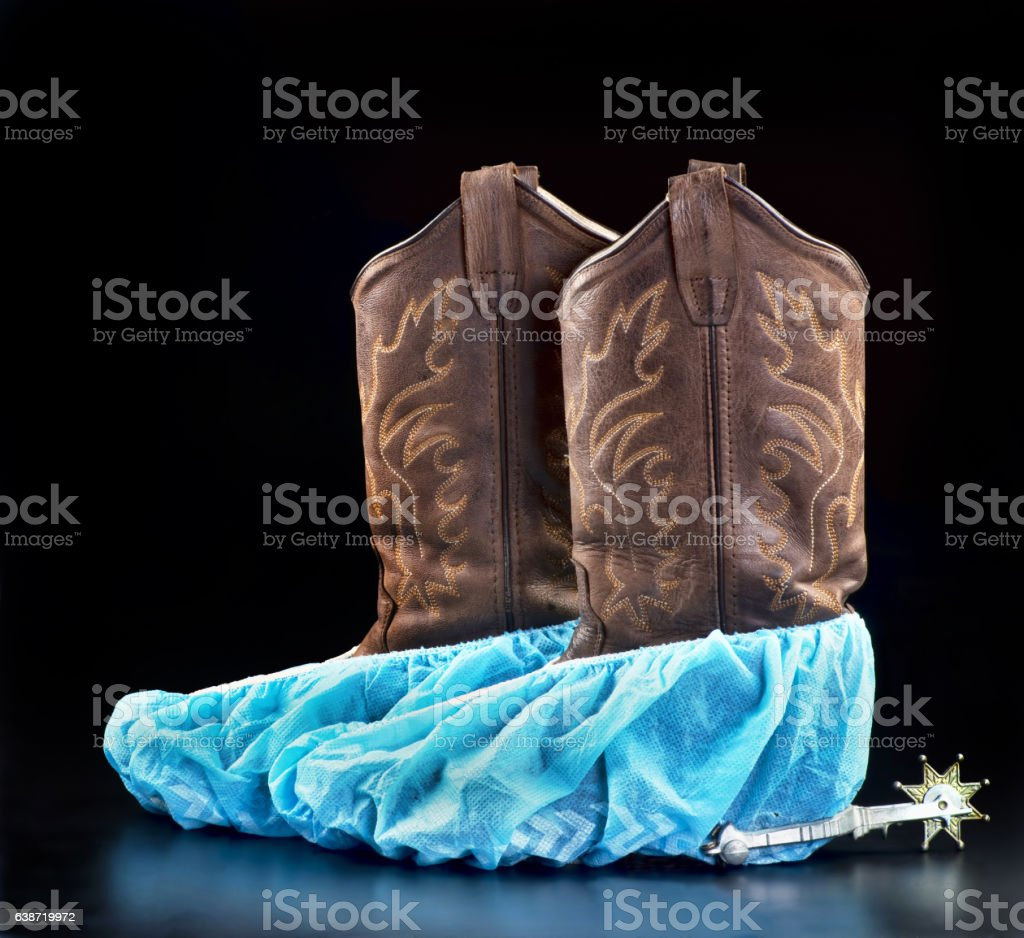 Texan Doctors Boots. stock photo