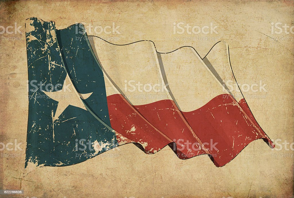 Texan Grunge Flag Textured Background Wallpaper stock photo