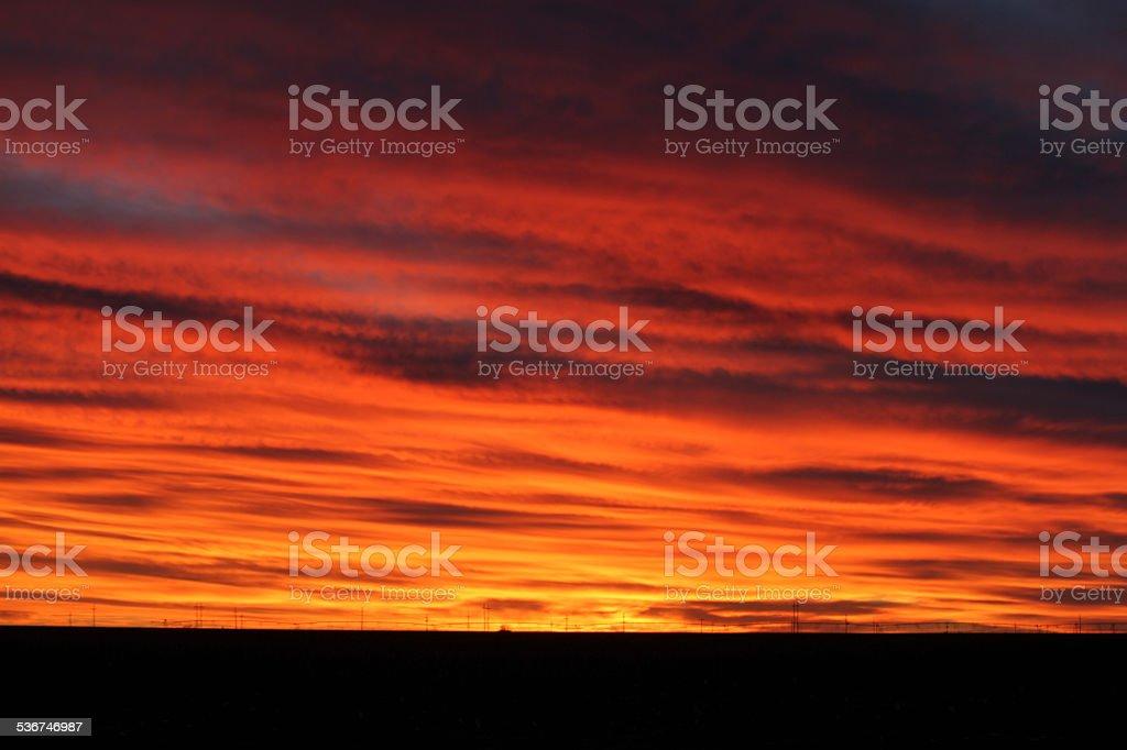Texan New Year Sunset stock photo