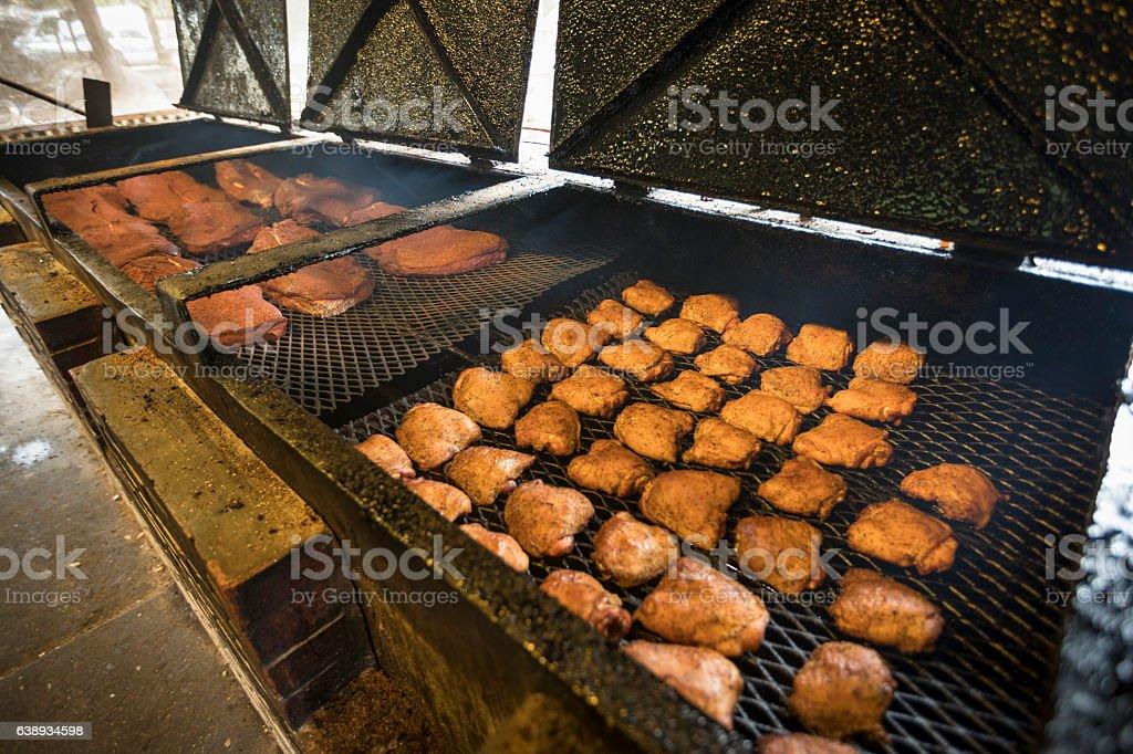 Texas BBQ stock photo