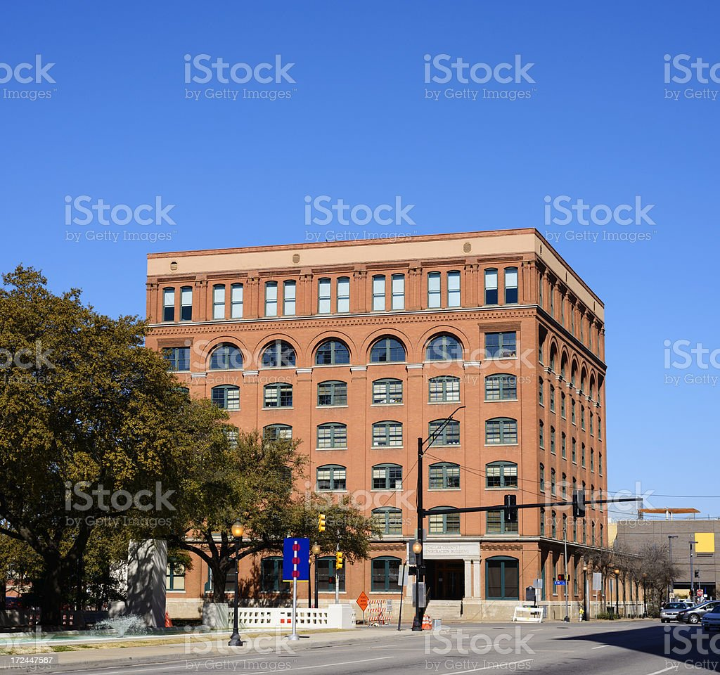 Texas Book Depository Building in Dallas USA royalty-free stock photo