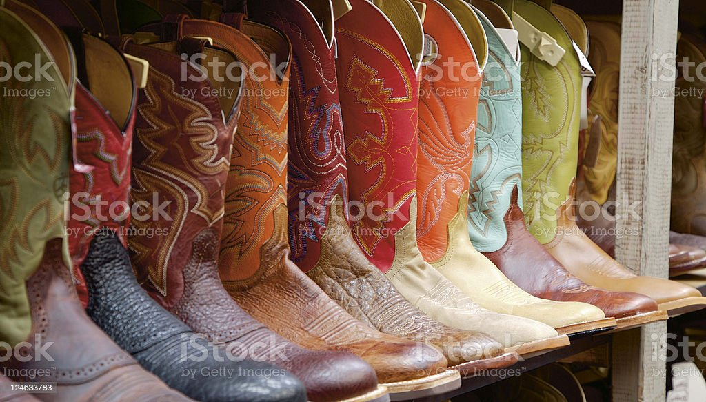 Texas Boots stock photo